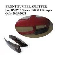 Carbon Fiber Front Bumper Lip Splitters Aprons Flaps For BMW 3 Series E90 M3 E92 M3 2005 2008 Car Styling