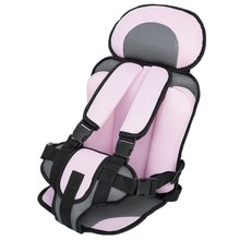 Portable Baby Safety Car Seat Kids Chairs In Car Babies Updated Version Thickening Children Infant Cotton Safe Car Seats Pink