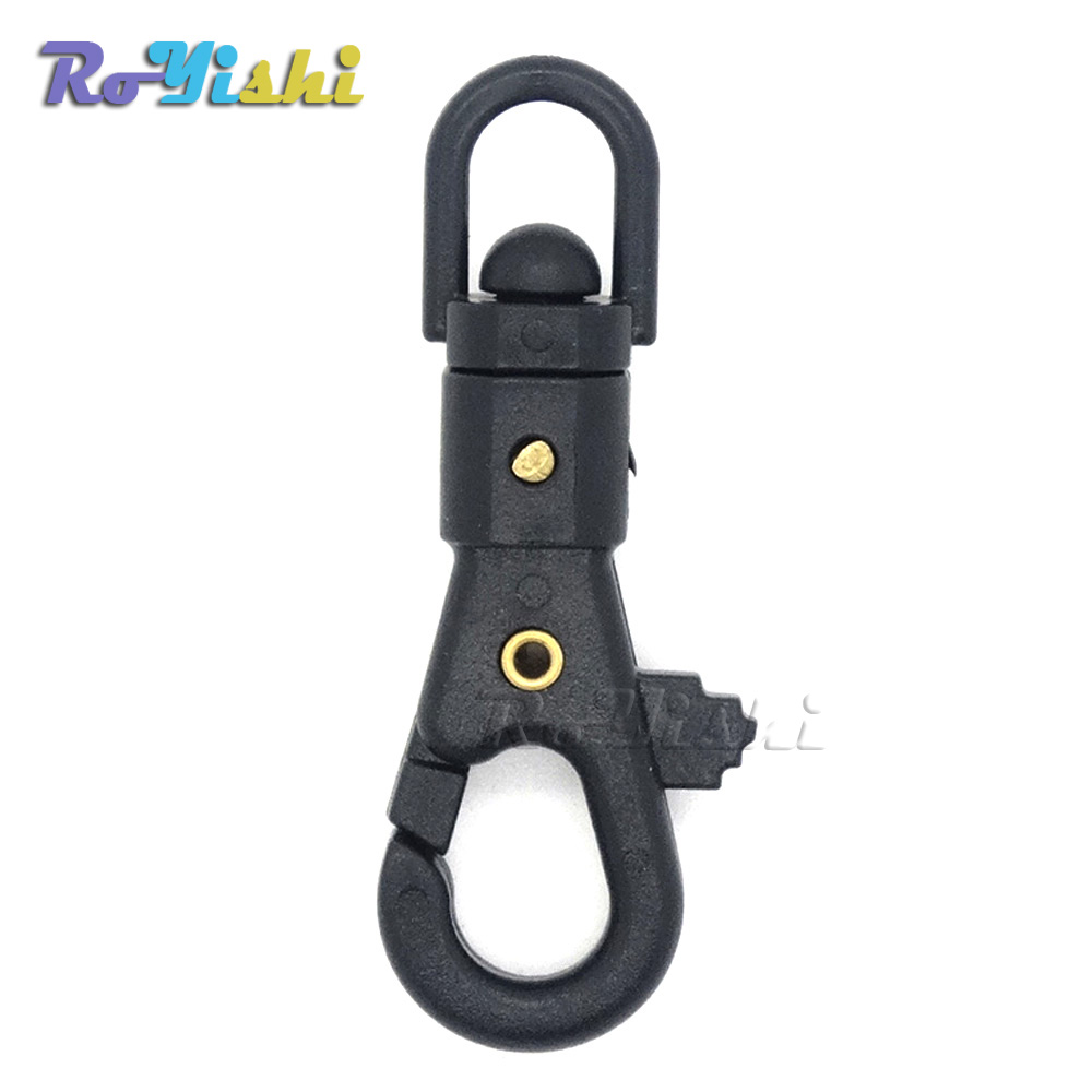 Earnest 100pcs/pack Plastic Swivel Snap Hook For Weave Paracord Lanyard Buckles Backpack Webbing Black+free Shipping Good Companions For Children As Well As Adults Buckles & Hooks Home & Garden
