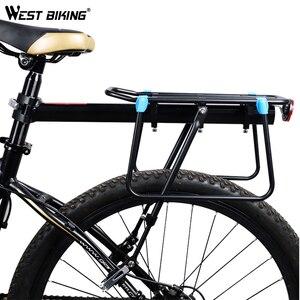 Image 2 - Batı bisiklet MTB bisiklet bagaj taşıyıcı alüminyum bisiklet kargo rafları 20 29 inç raf bisiklet Seatpost çanta tutucu standı raf