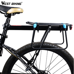 Image 2 - WEST BIKING MTB Bike Luggage Carrier Aluminum Bicycle Cargo Racks for 20 29 inch Shelf Cycling Seatpost Bag Holder Stand Rack