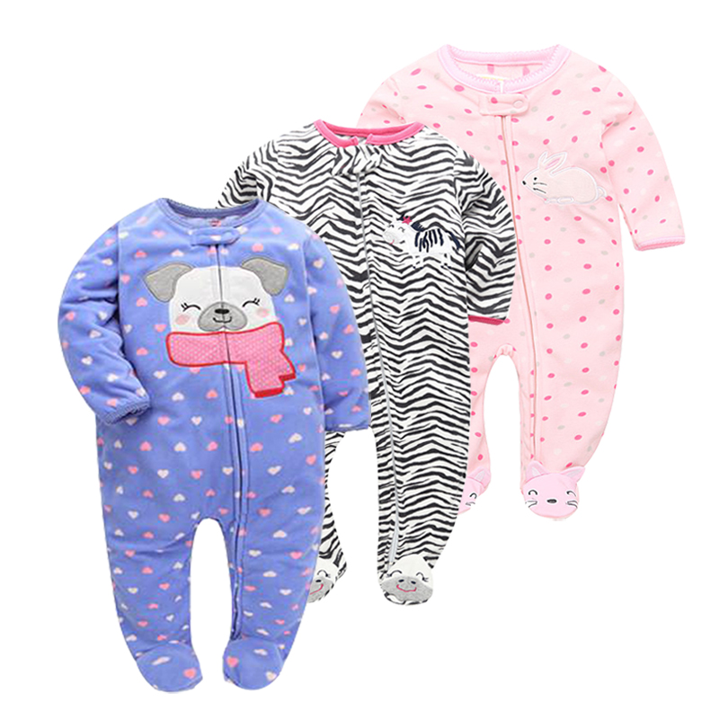New 2018 Autumn Spring Baby Rompers Clothes Long Sleeves Newborn Boy Girls Polar Fleece Baby Jumpsuit Baby Clothing 9-24m 2018 new baby girls rompers spring autumn long sleeved kids jumpsuit newborn pajamas baby boy clothing cotton baby romper