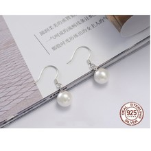 Wjpeng Wonderful Pure Freshwater Pearl Necklace Earrings Jewelry 925 Sterling Silver Party Anniversary Wholesale