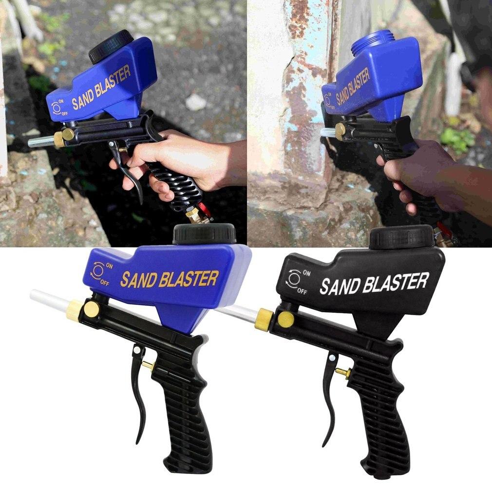 Профессиональный самотеком Пескоструйная пистолет воздух Sandblast Скорость Blaster песок пистолет для удаления ржавчины пескоструйным