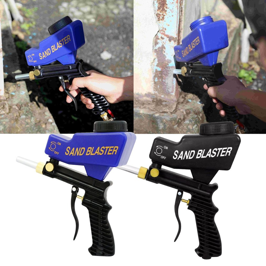 Professional Gravity Feed Sandblasting Gun Air Sandblast Speed Blaster Sand Spray Gun for Rust Removing Sandblaster