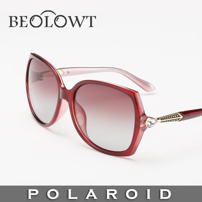 cfbcd24e0 Marca de moda óculos de sol polaroid beolowt liga das mulheres dos homens polarizados  condução óculos de sol com caixa de caso 4 cores bl160