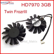 Free Shipping PLD08010S12HH 12V 0.35A 75mm Fan For MSI RADEON HD7970 3GB Twin FrozrIII Cooling Fan 4Pin