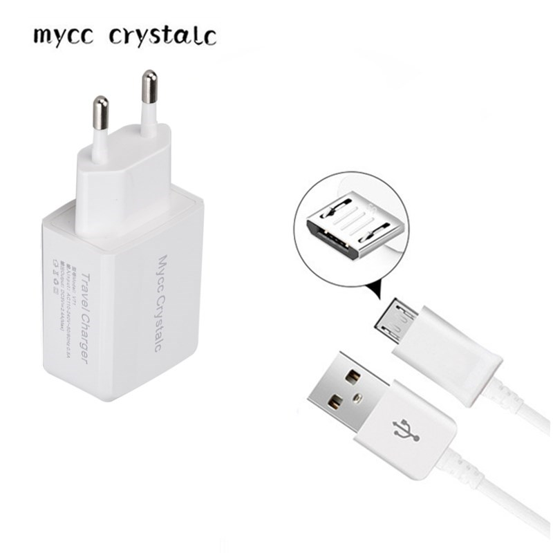 Voorzichtig 5 V 2.4a Eu Travel Wall Charger Adapter Voor Yu Ace Yu Yureka 2 Zwart S Note Yunique 2 Plus Yunicorn 1 M Micro Usb-kabel