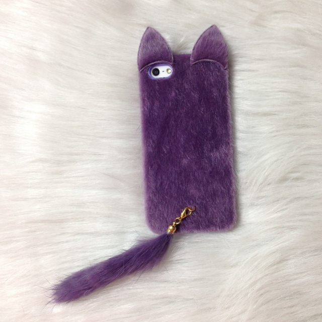 Furry Cat Silicone Case For iPhone