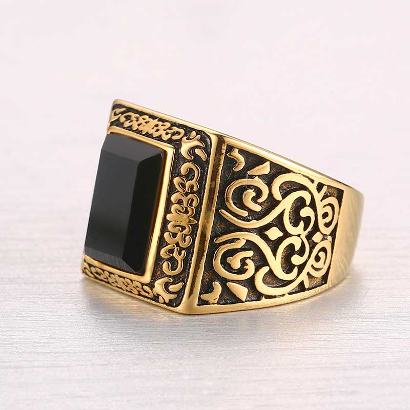 Aliexpress Buy 316L Stainless Steel Ring Yellow Gold Color