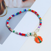 2019 Multi-color Bohemian Cowrie Shell Charm Bracelet for Women Bead Strand Bracelet Delicate Rope Chain Bracelets Beach Jewelry crystal bead and crown bracelet safety chain luxury strand bracelet