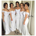 Short Sleeves Lace V neckline Mermaid Bridesmaid Dresses Sexy Women Wedding&Events Gowns 2017