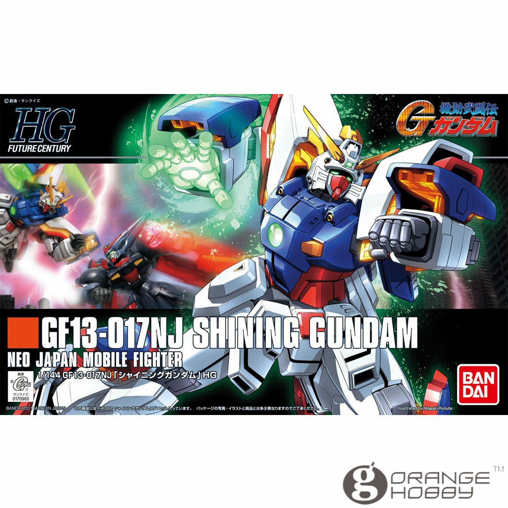 OHS Bandai HGUC 127 1/144 GF13-017NJ Shining Gundam Mobile Suit Assembly Model Kits ohs bandai mg 187 1 100 msn 00100 hyaku shiki ver 2 0 mobile suit assembly model kits