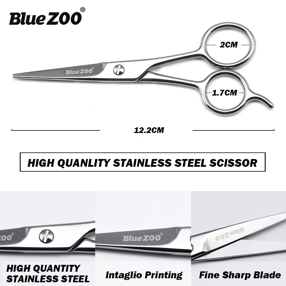 Blue Zoo Professional Stainless Steel Facial Hair Scissors For Men Moustache Scissor Beard Trimming Grooming Shaving Beard 2140 Борода
