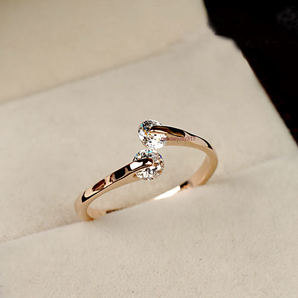 Engagement simple gold rings 2017