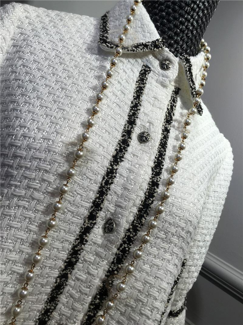 women elegant office dress,custom plus size xs-6xl,tweed winter dress,ladies vestidos de fiesta,tweed autumn White dress 11
