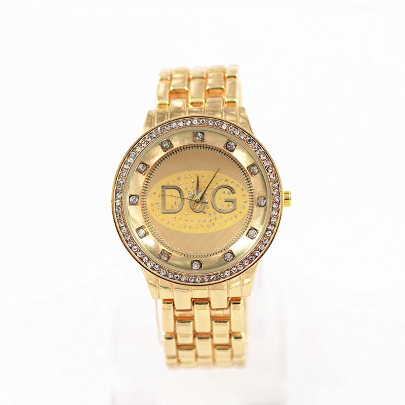 Relogios 2018Hot Sale Newest High Quality DQG Women Quartz Watch Golden Stainless Steel Rhinestone Lady Sport Watch Reloj Mujer