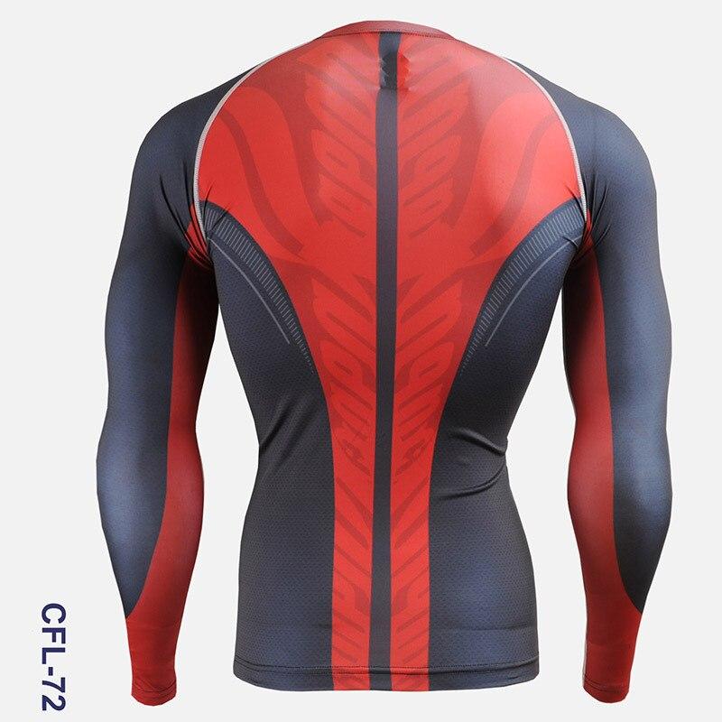 Vêtements de cyclisme hommes 2016 impression complète Gym activité de plein air collants à manches longues chemises de vélo pour hommes course entraînement chemises de sport - 6