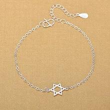 Женский шестигранный браслет из серебра 925 пробы