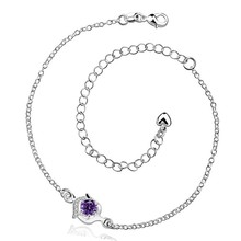 2016 Hot Sale Gift Anklet Silver Color silver plated fashion jewelry anklet for women jewelry/iTLGFEAUQ