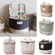Travel Multifunction Linen Cosmetic Makeup Bag Toiletry Organizer Storage Case Drop ship