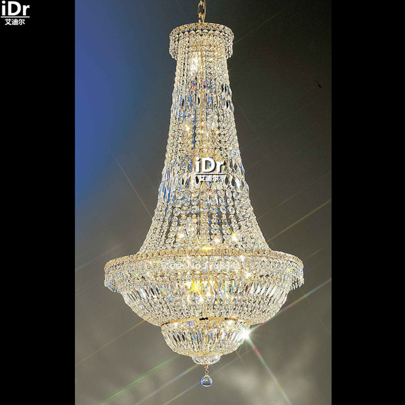 Contemporary Chandeliers crystal lamp gold handmade metal ...