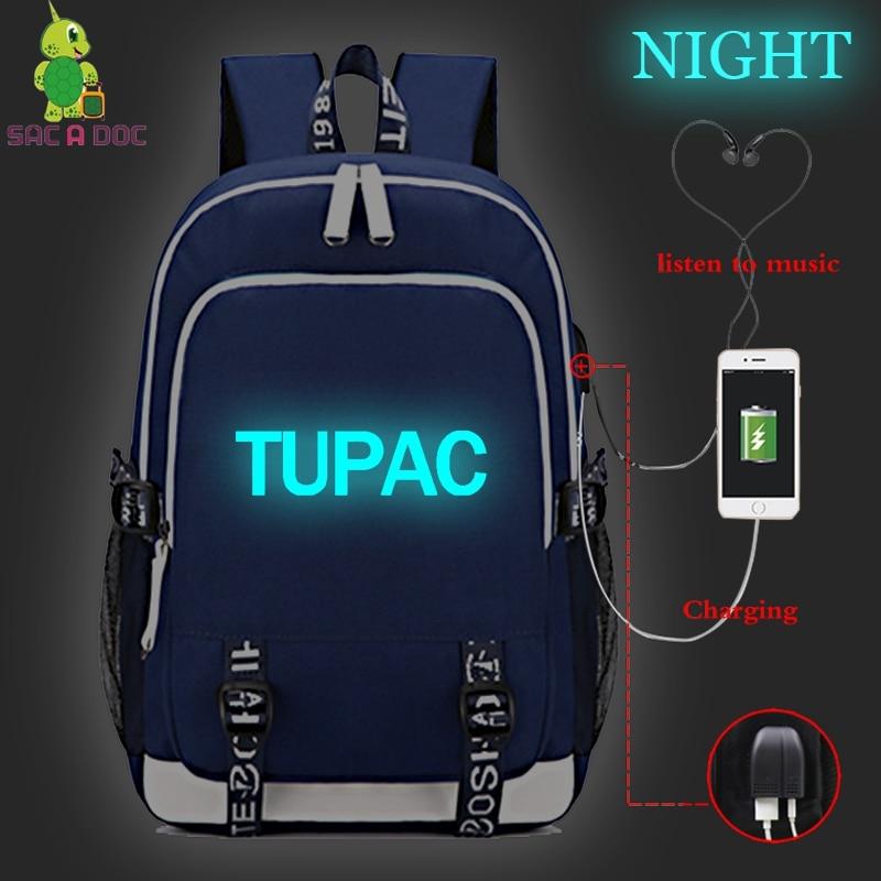 Luggage & Bags Men's Bags Tupac Usb Charge Backpacks Women&men Backpack Custom School Bags For Teenage Girls Travel Bag Notebook Bag Mochilas Sac A Doc