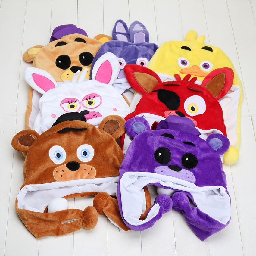 FNAF Five Nights At Freddy's Plush Mangle Freddy Fazbear Foxy Bonnie Chica Cartoon Hat Warm Winter Cap Plush Toy