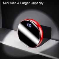 20000mAh Portable External Battery Mini Power Bank Mirror Screen Phone Charger Powerbank LED Digital  Poverbank For Mobile Phone