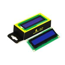 Бесплатная доставка! Keyestudio 16X2 1602 I2C/TWI ЖК-Дисплей Модуль для Arduino UNO R3 МЕГА 2560 Белый Синий