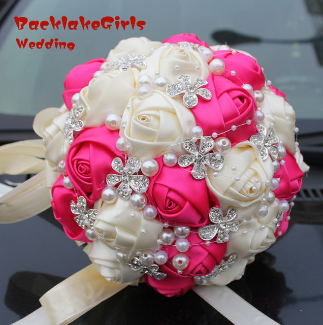 New arrival sale silk rose bouquets wedding bouquet the flowers hot new arrival sale silk rose bouquets wedding bouquet the flowers hot pink private custom mightylinksfo