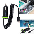 HAWEEL 5V 2.1A 8 pin USB Car Charger with Spring Cable for iPhone 6 & 6s For iPhone 6 Plus For 6s Plus iPhone 5 & 5S