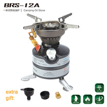 BRS 12A Outdoor Camping Stove Portable Liquid Fuel Camping Oil Stove Gasoline Stove Kerosene Stove Cooking Picnic Furnace