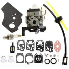 цена на For Honda GX25 GX25N GX25NT HHT25S 16100-Z0H-825 Carburetor Spark Plug Washer Primer Bulbs Set Kit Fuel Pipe Kit