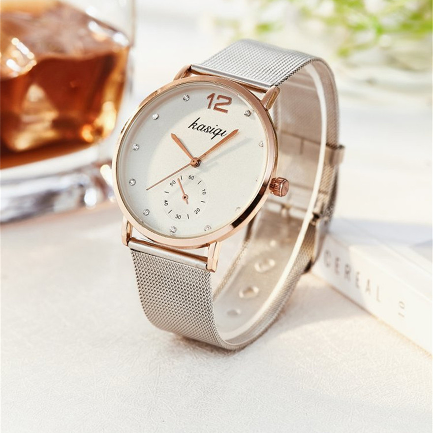 New Fashion Casual Relogio Couples Watches 2018 Brand Luxury Stainless Steel Popular Wristwatch Female Quartz Watch Hot Sale