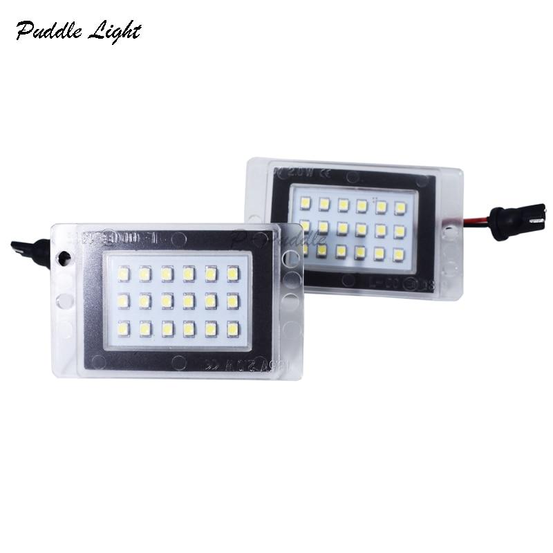 2x 18SMD For Volvo 855 V70 97-00 Auto LED License Plate Lights 12v White 6000K Led Number Plate Lights Car-styling