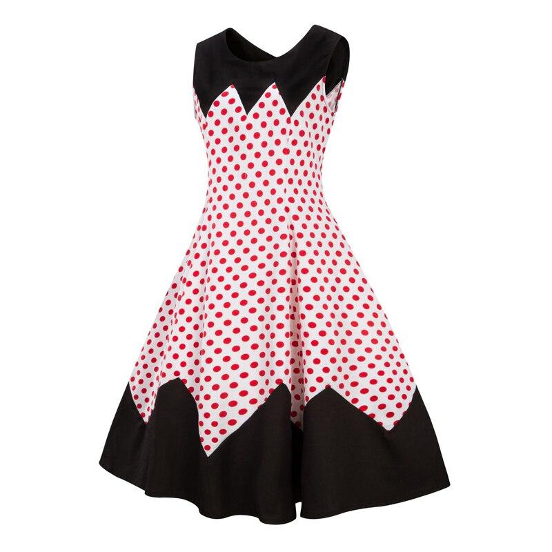 HTB1e__jbDmWBKNjSZFBq6xxUFXaLA Line Casual Rockabilly Skater Swing Plus size Dress