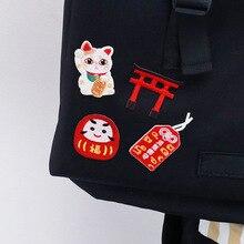Япония Lucky Cat Вышивка глажка на крутые аппликации для детей куртка одежда для футболок наклейки Значки для шляп рюкзак