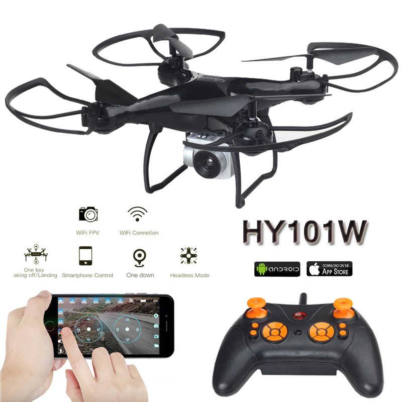 HY101W Quadrocopter Rc Drones With Camera HD Wifi Dron Altitude Hold FPV Quadcopters Folding RC Helicopters Toys For Children Квадрокоптер