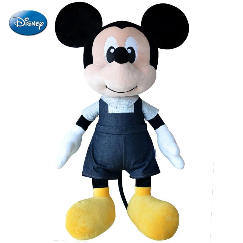 Véritable Disney Mickey Mouse jouets en peluche Minnie Mouse poupées en peluche enfants anniversaire cadeau de noël de haute qualité