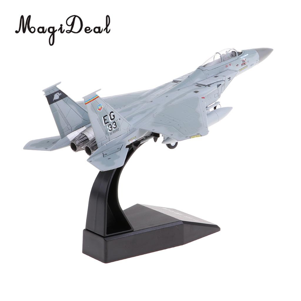 MagiDeal 1:100 Scale Alloy American F-15 Airplane Aircraft Fighter Toy Model Diecast Plane Model Toy Home Decor Collectables аэрострел 1 toy т56150 air fighter