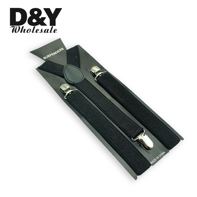 2.5 Cm Women Men Unisex Clip-on Braces Elastic Slim Suspender