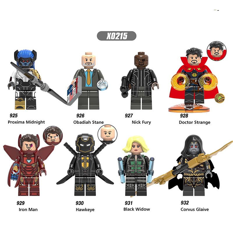 Single Sale LegoINGlys Super Heroes  Avengers 3 Nick Fury Penny Howard Rajesh Corvus Glaive Building Blocks Toys For Kid X0215