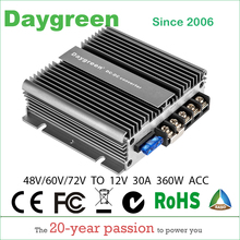 11.11Factory Price  48V to 12V, 60V to 12V, 72V to 12V 10A 20A 30A 40A 50A DC DC Step Down Converter Free Shiping For Automotive
