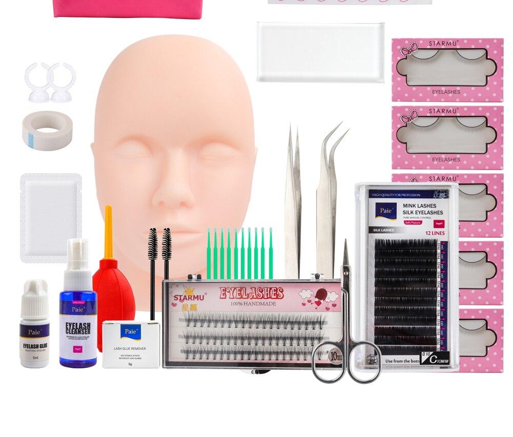 modelo prática silicone manequim cabeça pinças kits