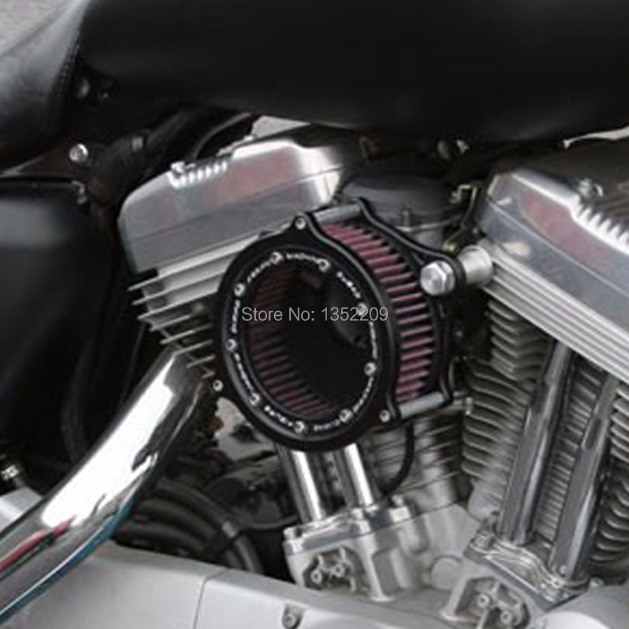 New Rough Crafts Air Cleaner Intake Filter Syetem Fits For 2004 2015 Harley Sportster XL 883
