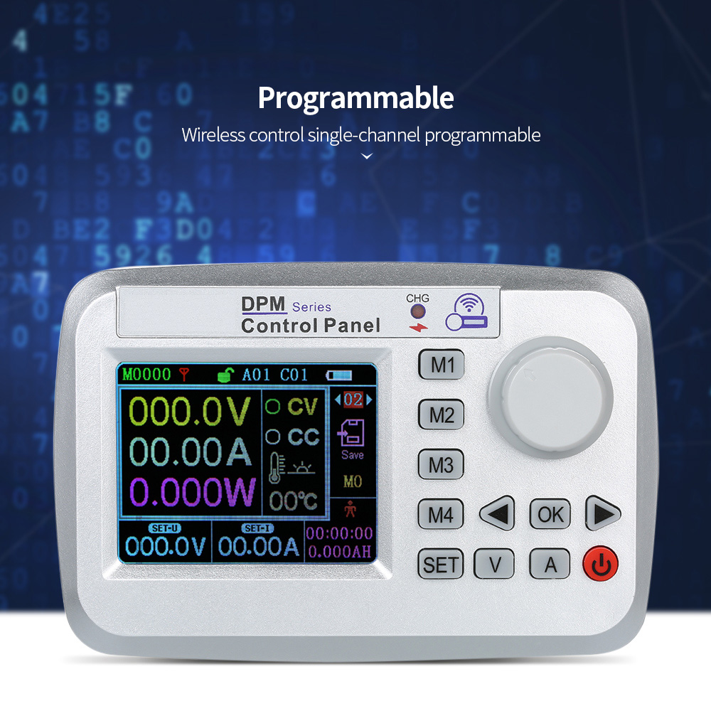 DPM8608-RF 60V 8A Color Screen Wireless Control Constant Voltage Current DC-DC Step-down Communication Power SupplyDPM8608-RF 60V 8A Color Screen Wireless Control Constant Voltage Current DC-DC Step-down Communication Power Supply