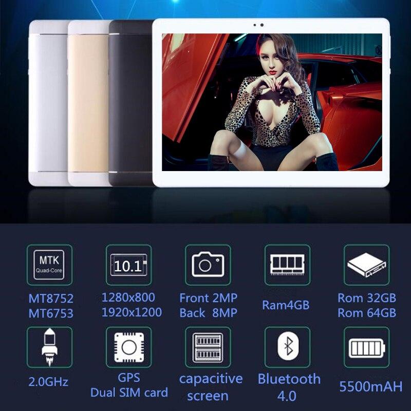 2018 10.1 Compresse 8 Octa Core 32 GB 64 GB di ROM Google Android 7.0 10 Tablet PC 3G 4G LTE WIFI GPS bluetooth del telefono MT8752 S1092018 10.1 Compresse 8 Octa Core 32 GB 64 GB di ROM Google Android 7.0 10 Tablet PC 3G 4G LTE WIFI GPS bluetooth del telefono MT8752 S109
