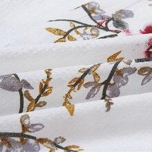 فستان صيفي أنيق بنصف أكمام قصير مطبوع بأزهار رائعة