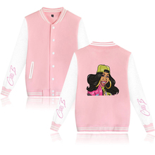 Cardi B Women's Baseball Jacket 2019 Kpop Harajuku Jacket Men/Women Comfortable Female Streetwear Windbreakers Coat FreeShipping